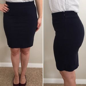 The Limited Pencil Skirt — Navy Blue